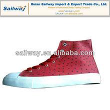 2014 Fashion Plimsolls Womens Casual Shoes Hi cut Print Heart Upper Rubber Sole 35 - 46