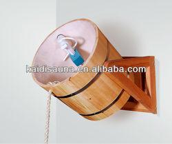 2015 hot sale 18 L Wooden sauna bucket for shower