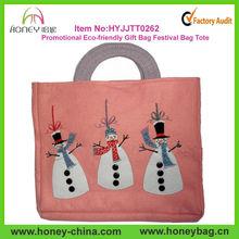 Promotional Eco-friendly Felt Gift Bag Festival Bag Tote Bag For Christmas