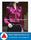 new design silks and satins shirt for women clothes made in china