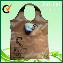 Customized coffee cup washing shopping bags reusable polyester