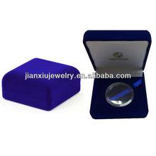 Metal coin display packing velvet box