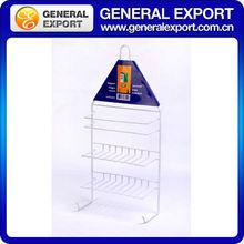 Multifunctional hooks kitchen or bathroom metal storage shelf