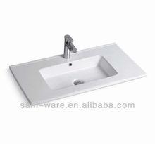 ceramic bathroom wash basin cabinet pvc