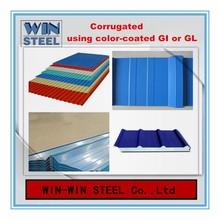 High quality corrugated sheet /roofing sheet using GI/GL/PPGI/PPGL