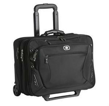OGIO Traverse wheeled briefcase. Includes your embroidered logo that features up to 10,000 stitches.