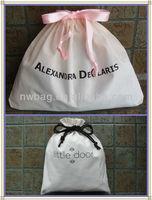 2014 wholesale white cotton dust cover for handbag