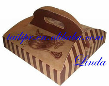 100% eco-friendly high quality pizza packaging box/kraft paper pizza box/fast food packaging box