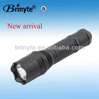 Waterproof Rechargeable Aluminum Police Tactical Flashlight