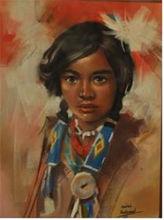 Pastel painting ,portrait