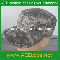 Custom fashion design military cap plain flat top cap