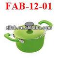 Mini panela de cerâmica antiaderente verde líder de vendas