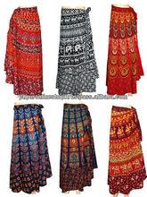 Cotton wrap around skirts, cotton beach wear wrap skirts