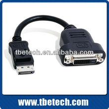wholesale Displayport to DVI converter cable DP male to DVI female converter