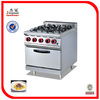 stainless steel gas cooking range with oven in guangzhou(0086-13580546328)