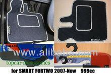 SET CAR CARPETS FOR SMART 2007-Now 999cc VELOUR FLOOR MATS