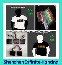 Hot sale new design custom led t-shirt/custom design led t-shirt/Beautiful led T-shirt Design