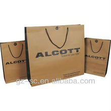 eco friendly recyclable printing package kraft paper bag manufacturer