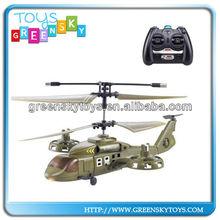 4CH IR plástico APACHE rc modelo de helicóptero com gyro