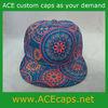 Custom hater hawaii print snapback hat (Floral)/ blank 5 panel hat