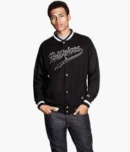 Small stand-up collar varsity baseball men's jacket