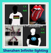 Sound active equalizer el t-shirt panel for t-shirts /caps/bags/EL graphic equalizer panel for t-shirt