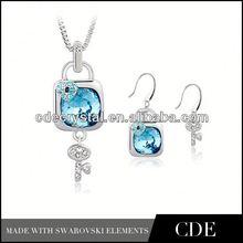 wholesale crystal fashion peacock rhinestone jewelry set