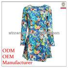 good qualtiy long sleeve floral print batik design dress