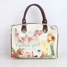 Lady's fancy mini custom oem pu leather traveling bag