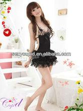 Wholesale Cheap Sexy Black Babydoll Women Lace super plus size lingerie A1149