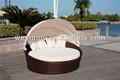 Caña de tumbonas/cama redonda para adultos/playa silla de salón con dosel