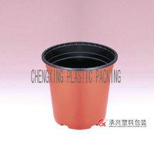 high quality double color plastic flower pot