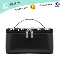 2013 Black PU patent leather made in china cosmetic bags
