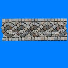 Modern design rusty mosaic slate border