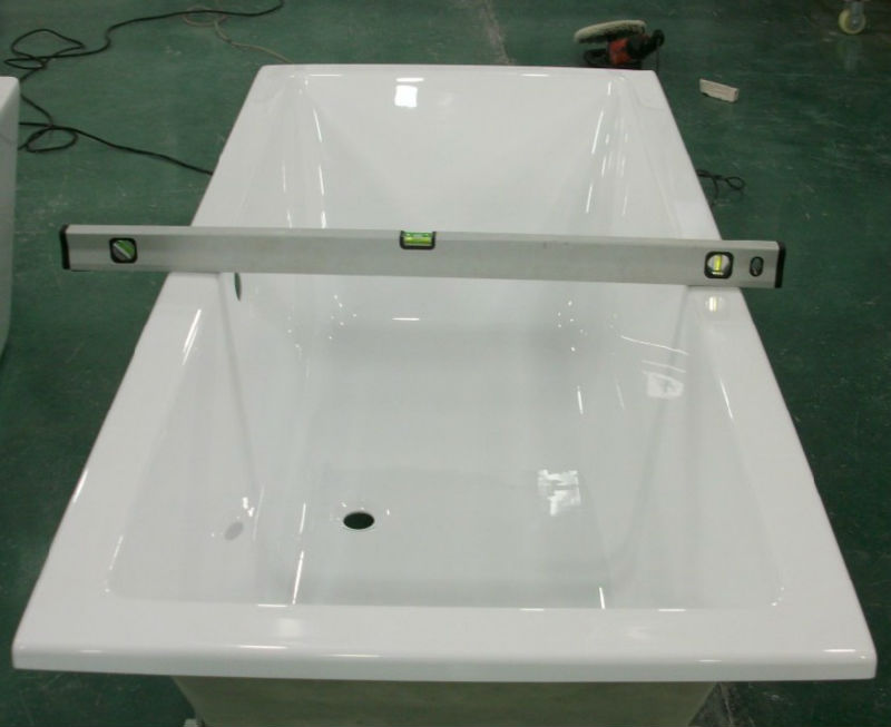 ce cupc one piece free standing bath tub surround view
