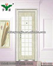 steel door glass insert entry door