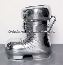Cast Aluminum Decorative Shoe for put the Bottle Inside, Home Decor, Table top for Home, Office , Business, Showpiece