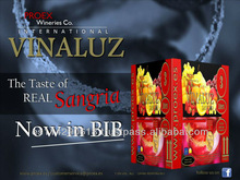 VINALUZ Sangria Wine 7.0% bag in box BIB 6x3l