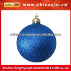 hanging on tree glitter plastic decorative sparkle christmas ball