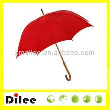 fsc wood bumber shoot red promotion umbrella