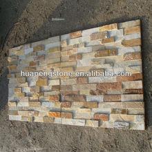 P014 yellow ledge stone wall tile
