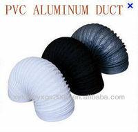 Single layer Combi White/Black/Grey PVC Flexible Duct OEM