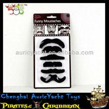 costume beard and moustache,pirate theme party fake beard moustache,black halloween fake arab beard mustache ZH0911850