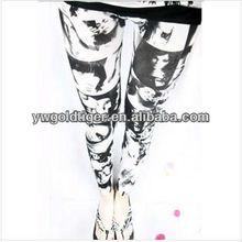 Fashion Seamless Long Aztec Tribal Geometric Totems Young Girls Picture Comics Sketch Ink Women Cheap Spandex Leggings