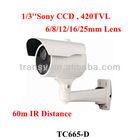 3 Array LED 1/3 Sony CCD 420TVL Bullet Security Camera 6/8/12/16/25mm Lens IR 60m Surveillance Waterproof Bullet CCTV Camera