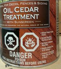 cedar oil wood stain