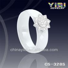 ceramics cross partition ring, white classic black ceramic ring, c ceramic silver wedding ring