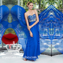 Bling Bling Crystals Navy Blue Chiffon Prom Dresses 2013 New Fashion