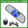 2.4G Wireless Car Rear View Camera high resolution 4.3inch mirror Monitor and Mini Camera of 150 Degree ccd hd backup car camera
