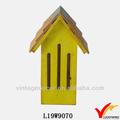 rústico amarelo n jardim casa decoração artesanato em madeira birdhouses